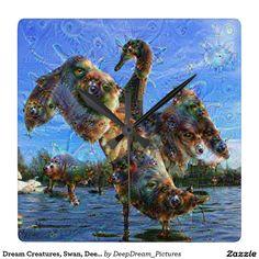 Dream Creatures, Swan, DeepDream