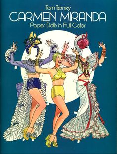 Carmen Miranda 1982 by Tom Tierney Dover Publications, via Etsy