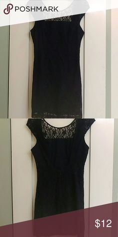 Hollister lace mini dress Mini lace dress, backless, navy blue. High neck, short sleeves. Worn once. Hollister Dresses Mini