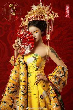 Oriental Dress, Oriental Fashion, Asian Fashion, Traditional Fashion, Traditional Dresses, Chinese Kimono, Geisha Art, Art Japonais, Chinese Clothing