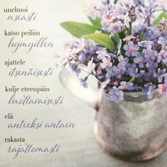 Finnish Words, Mind Power, Life Is Beautiful, Cool Words, Glass Vase, Messages, Photo And Video, Quotes, Cards