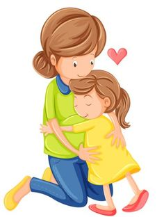 Illustration of Illustration of a love of a mother and a daughter on a white background vector art, clipart and stock vectors. Happy Kids Quotes, Quotes For Kids, Quotes Children, Happy Children, Mothers Love, Happy Mothers Day, Bebe Vector, Mother Clipart, Moral Stories For Kids