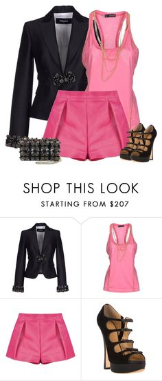 """""""DSQUARED 2 blazer and shorts"""" by bodangela ❤ liked on Polyvore featuring Dsquared2, women's clothing, women, female, woman, misses and juniors"""