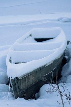 Boat in snow | digital deconstruction