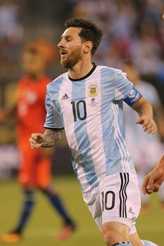 #COPA2016 #COPA100 Lionel Messi of Argentina in action during the Argentina Vs Chile Final match of the Copa America Centenario USA 2016 Tournament at MetLife Stadium...