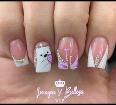 Acrylic Nails Coffin Pink, Coffin Nails, Nail Spa, Manicure And Pedicure, Diy Nails, Nail Designs, Lily, Make Up, Glitter