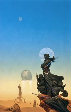 clearairturbulence: Artist: Michael Whelan Cover art for C. J. Cherrys The Faded Sun: Kutath.