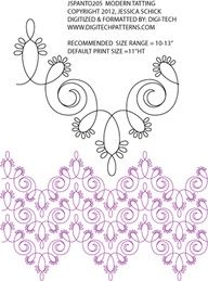 zentangle patterns step by step | Modern Tatting Pantograph by Jessica Schick JSPANTO205
