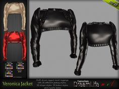 MESH Veronica Female Leather Jacket* Rigged (HUD Driven) *DreamLife - FashionNatic*