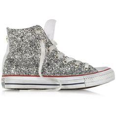 more photos e881d 99915 Converse Limited Edition Shoes All Star Hi White Canvas w Silver Glitt.  Converse Limited Edition Shoes All Star Hi White Canvas w Si.
