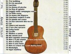 3° elenco di canzoni interpretate da Little Tony.