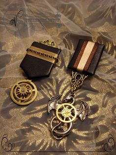 Steampunk Medal  With 3D Industrial Mushtaches Copper Medal Without Ribbon