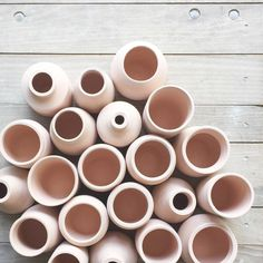 The Loot Vintage bisqueware line getting ready for a gorgeous glaze. We are swooning over the perfectly blush hue of these @JavelinaRanch pieces!