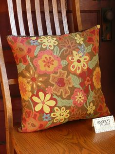 Sweet Pillows Multi-Colored Floral with by JollieSweets on Etsy