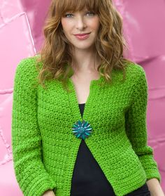 Sparkling Crochet Cardi. This is a beautiful cardigan and it seems like a fairly easy pattern. Will definitely try out this pattern.