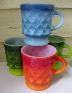 Vintage Fire King coffee Mugs by houuseofwren