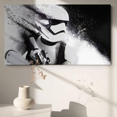 Tableau Star Wars Le Stormtrooper - 70x100cm / Sans Châssis