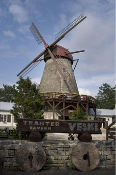 Saaremaa Island, an old wind mill and tavern