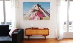 Salon Appartement Duplex Paris Chichen Itza Martin Parr Photographie Mobilier Scandinave Nayla Voillemot et Romain