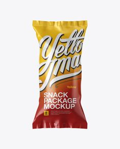 Glossy Snack Package Mockup (Preview)