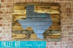 state pallet art- big one above our grill on the patio!!!