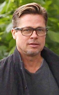 191541a5589b9 46 Best Celebrity Eyewear- Brad Pitt + Angelina images   Brad pitt ...