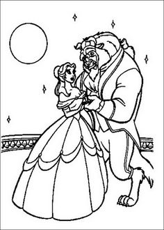 Free Beauty And The Beast Coloring Pages Procoloring