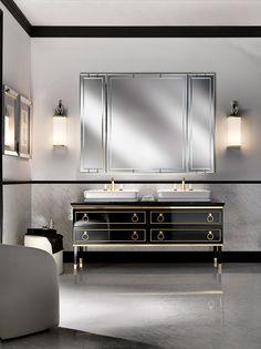 Luxury dark sideboard. Golden details. Luxury furniture. Interior design ideas. home decor ideas. Interior design. For more inspirational ideas take a look at: www.bocadolobo.com