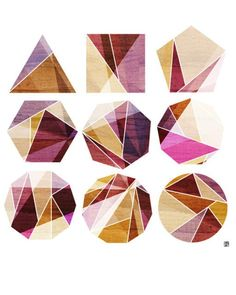 Geometric Pattern in Geometric Shapes, Shape Inception, Vibrant, Earthy palette, Colourful, Warm Colours, Natural