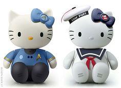 Hello Kitty for marshmellow man fans.