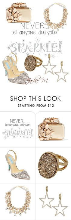 """""""Sparkle"""" by jackie-mallet ❤ liked on Polyvore featuring Wall Pops!, Jimmy Choo, Betsey Johnson, Saks Fifth Avenue and Kate Spade"""