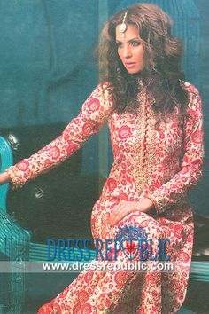 Champagne Dettori - DR9874, Nomi Ansari Dresses for EID 2013, Designers Shalwar Kameez Suits for EID 2013 by www.dressrepublic.com