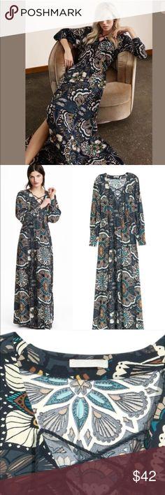"️H&M fashion week 2016 patterned maxi dress NWOT. 100% viscose. Length 56"" H&M Dresses Maxi"