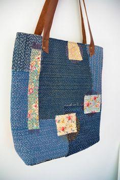 How to make a Sashiko Denim Tote Bag – VickyMyersCreations