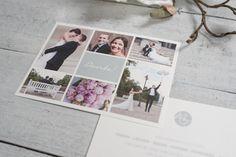 """Einladungskarten - 50x Dankeskarte """"Paynes Grey"""" - ein Designerstück von schneidersfamilybusiness bei DaWanda"""