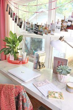 Colorful Bohemian Office Design: