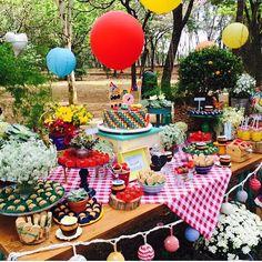 Festa infantil ao ar livre com tema picnic  por @fresafestas  #kikidsparty