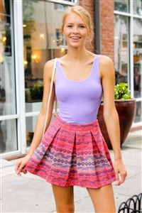 Quilted Stories Skater Skirt. www.Shoplaurennicole.com