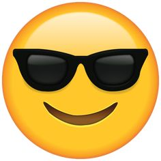 Whether you're chilling in the sun or just feeling cool, this emoji with shades is the one to choose.