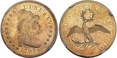 1795 Capped Bust $10 Gold 13 Leaves MS62+ NGC CAC is available at the Heritage Auctions Central States U.S. Coins Signature Sale in Schaumburg, Illinois, April 26-30, 2017...While there are about 20 coins certified higher this coin should always be a highlight at any auction; the current NumisMedia Market value is $132,500....