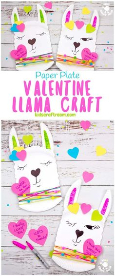 This Paper Plate Llama Craft is so adorable! It's a quick and easy llama craft for kids and a cute quirky idea for a Valentine's Day card too! Add a written llama pun message to make a llama valentine craft that's sure to delight! Llama be your Valentine! Valentine's Day Crafts For Kids, Valentine Crafts For Kids, Holiday Crafts, Kids Crafts, Craft Kids, Easy Crafts, Homemade Crafts, Summer Crafts, Creative Crafts