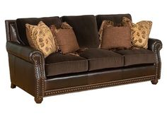 """Shop for King Hickory Crawford Sofa, M34-00-LF, and other Living Room Sofas at Woodley's Furniture in Colorado Springs, Fort Collins, Longmont, Lakewood, Centennial, Northglenn. The West was full of great characters, but none were as colorful, flamboyant or as poetic as John Wallace """"Jack"""" Crawford."""
