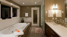 Contemporary Bathroom Set In Tub Tile Design, Pictures, Remodel, Decor and Ideas - page 10 Contemporary Bathroom Designs, Bathroom Tile Designs, Bathroom Floor Tiles, Bathroom Ideas, Bath Ideas, Tub Tile, Bathroom Spa, Bathroom Doors, Shower Floor