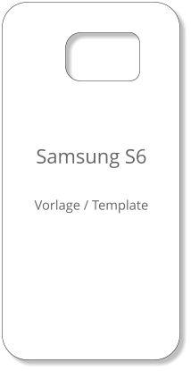 Samsung S6 Template Case   Samsung S6 Handyhülle Vorlage zum selbst gestalten