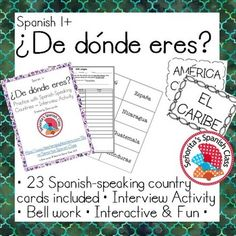 Activities done in Spanish-speaking countries?