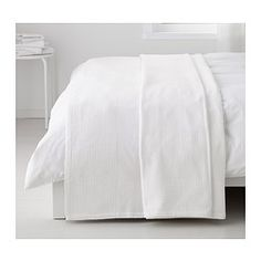 IKEA - INDIRA, Bedspread, white, Fits a Twin bed with a drop of The bedspread fits beds with approx. drop on each side. The bedspread fits beds with approx. drop on each side. Fits a Twin bed. Dream Bedroom, Home Bedroom, Master Bedroom, Bedroom Decor, White Furniture, Bedroom Furniture, Studio Apartment Furniture, Apartment Ideas, Houses