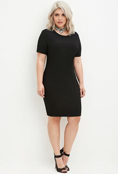Plus Size Ribbed Knit Bodycon Dress | Forever 21 PLUS - 2000146849
