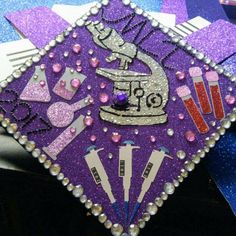 The Graduation Cap that I eventually made for the Medical Laboratory Technology degree I earned.