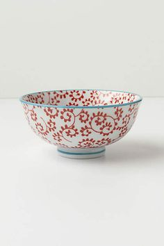 Inside Out Bowl - anthropologie.com Set of 4 perfect for cereal, desserts or soup  Any pattern