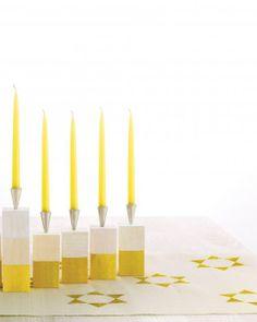 Starry Stamped Hanukkah Table Runner